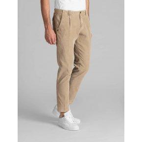 Pantalone Tom Beige Velluto Tinto Capo Stretch