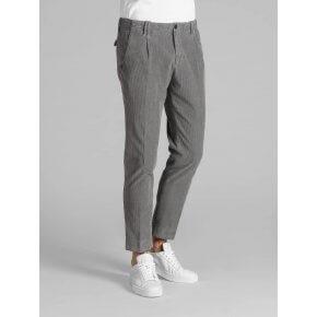 Pantalone Tom Grigio Velluto Tinto Capo Stretch.