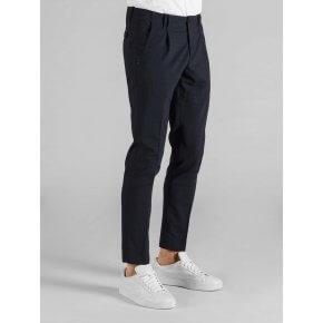 Pantalone Tom Galles Blu Tela Lana Stretch