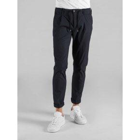 Pantalone Toto' Blu Notte Cotone Tela Vela Stretch