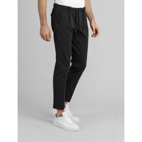 Pantalone Totò Jogging Coulisse Nero Tecnico Japan