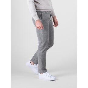 Pantalone Clay Fustagno Spinato Grigio Chiaro