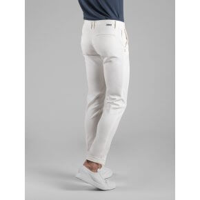 Pantalone Clay Bianco Naturale Cotone Stretch