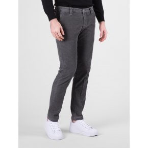 Pantalone Clay Grigio Medio Velluto Microfantasia