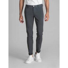 Pantalone Clay Cotone Diagonale Grigio Ardesia
