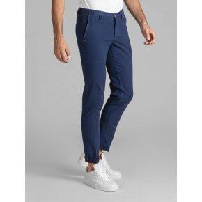 Pantalone Clay Cotone Diagonale Blu Aperto