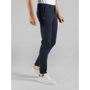 Pantalone Clay Blu Notte Cotone Stretch Nido d'ape
