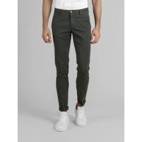 Pantalone Clay Verde Foresta Cotone Oxford Stretch