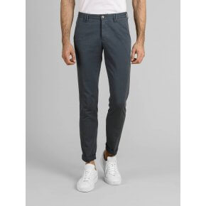 Pantalone Clay Cobalto Cotone Oxford Stretch