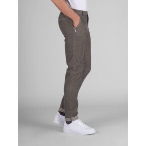 Pantalone Clay Beige Velluto Fantasia