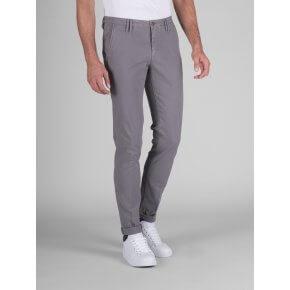 Pantalone Clay Grigio Medio Cotone Operato Stretch