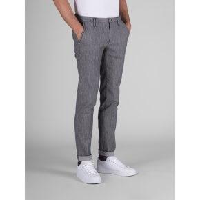 Pantalone Clay Grigio Cotone Fiammato Stretch