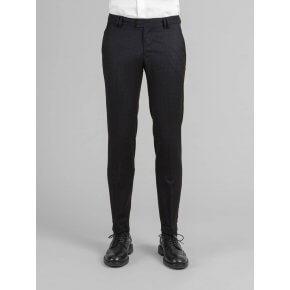 Pantalone Liam Blu Quadro Tono su Tono Comfort