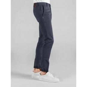 Pantalone Ronny Blu Fantasia Punta Spillo Stretch