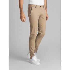 Pantalone Ronny Beige Gabardina Cotone Stretch