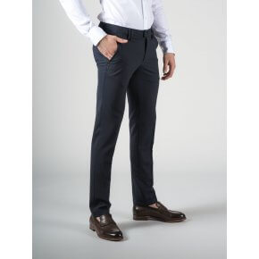 Pantalone Ronny Blu Fresco Lana bi-stretch