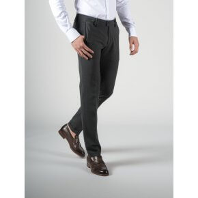 Pantalone Ronny Antracite Fresco Lana bi-stretch