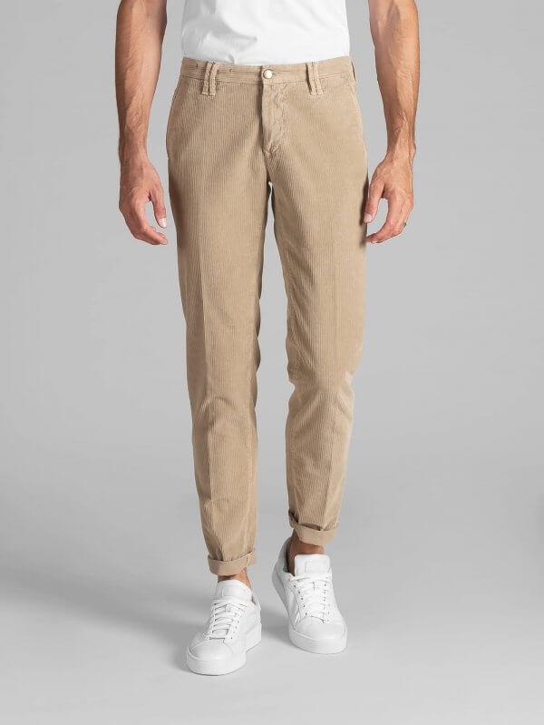 Pantalone Clay Beige Velluto 500 Righe Stretch