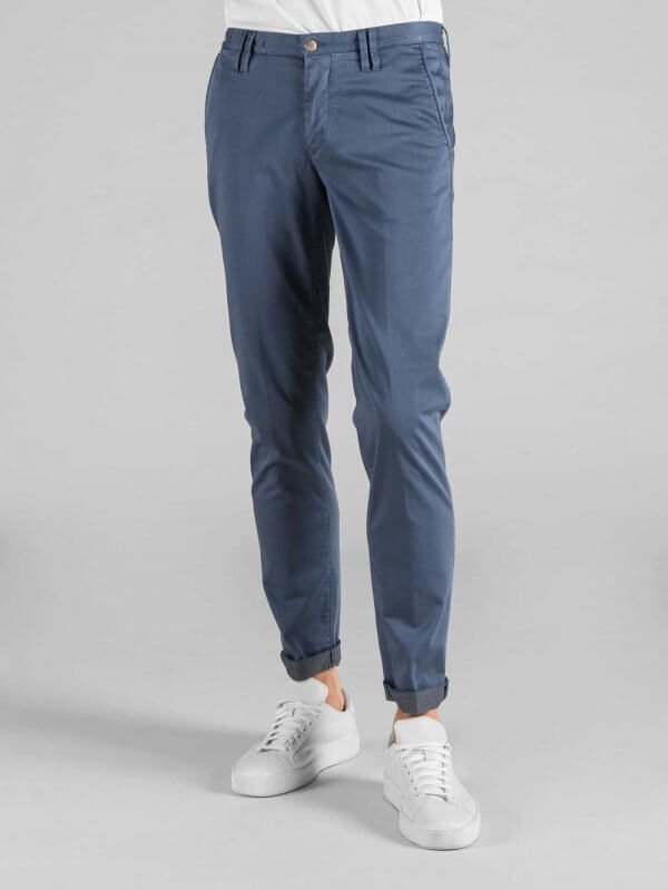 Pantalone Clay Avio Raso Stretch Interno Grigio