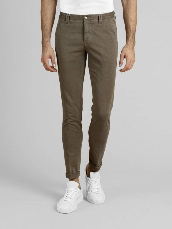 Pantalone Clay Beige Cotone Oxford Stretch