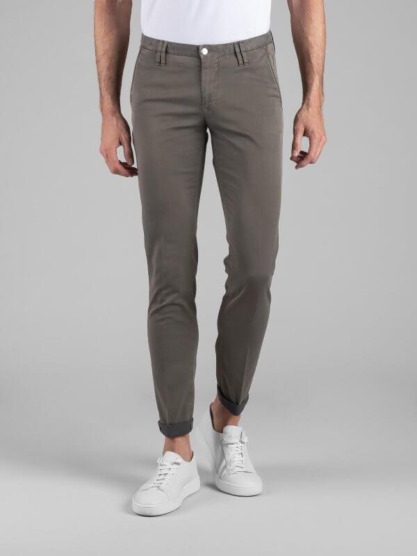 Pantalone Clay Fango Cotone Diagonale Stretch