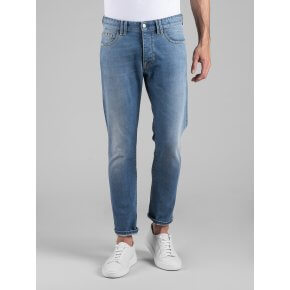 Denim Hugo Boyfriend Stretch Stone Bleached 11 Oz.